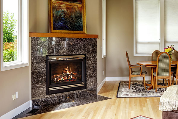 Granite fireplacs surround
