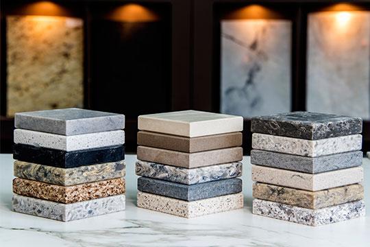 Natural stone samples