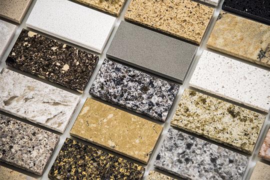 Granite countertop samples colors